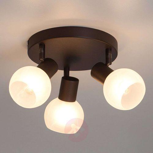 Lampa punktowa Brilliant 12934/20 E14, (Ø) 18 cm, brązowy, biały (4004353174360)