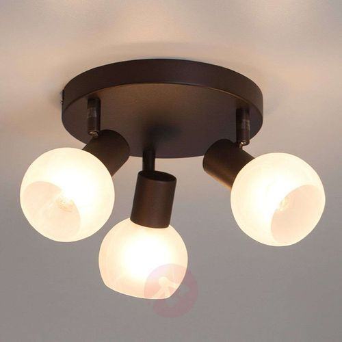 Lampa punktowa Brilliant 12934/20 E14, (Ø) 18 cm, brązowy, biały, kolor Brązowy