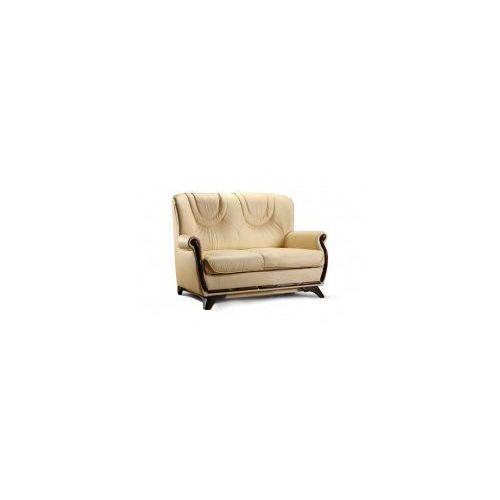 Sofa FRYDERYK 2 ( nierozkładana - SKÓRA NATURALNA )