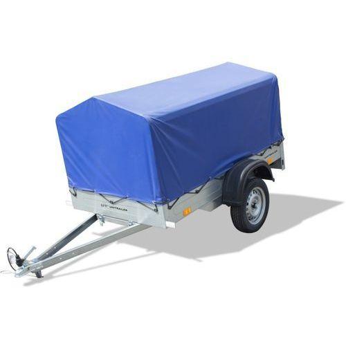 Unitrailer Przyczepa samochodowa lekka 195 x 111 z plandeką i stelażem dmc 750 kg home trailer 200 (5907640255133)