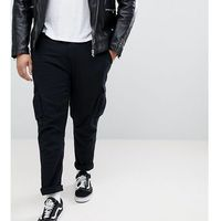 Duke plus cargo trousers in tapered fit with stretch - black