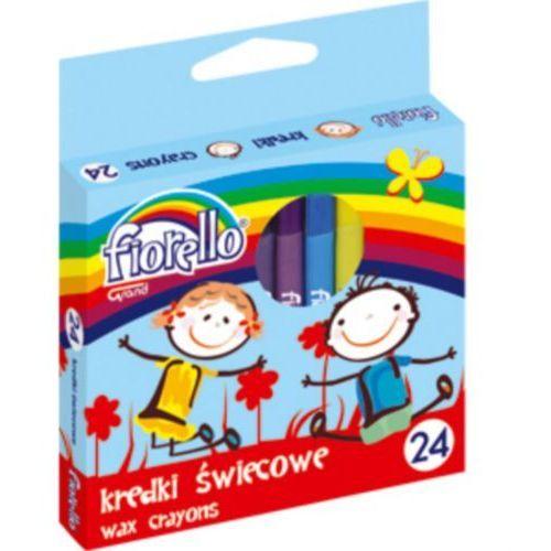 Kredki świecowe 24 kolory Fiorello (5903364244835)