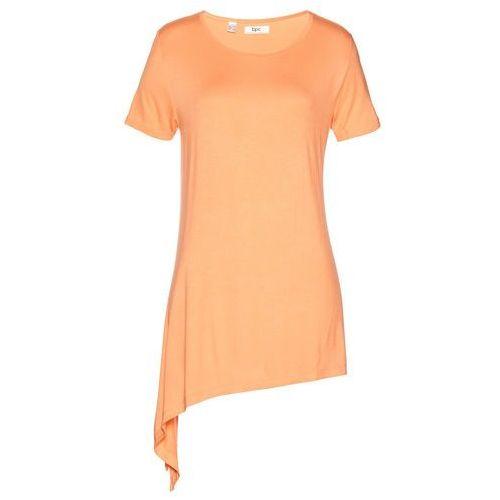 Shirt z wiązaniem z boku bonprix morelowy, w 4 rozmiarach