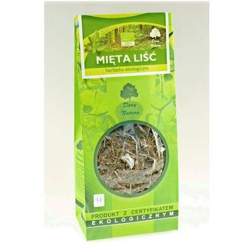 Herbatka liść mięty bio 100 g - dary natury marki Dary natury - herbatki bio