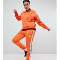 Puma Exclusive To ASOS Plus Taped Side Stripe Track Pants In Orange - Orange, w 4 rozmiarach