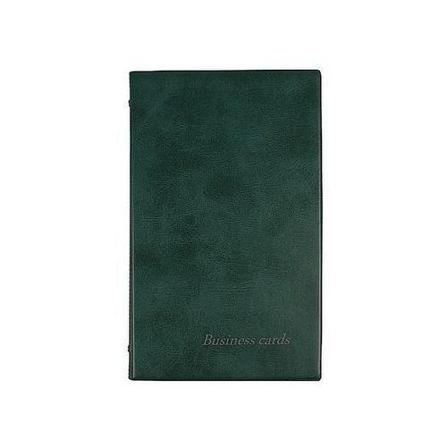 Biurfol Wizytownik na 200 wizytówek ciemno zielony wl-01