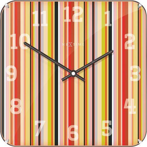 Nextime Zegar ścienny kwadratowy smithy dome 35 x 35 cm (3169)