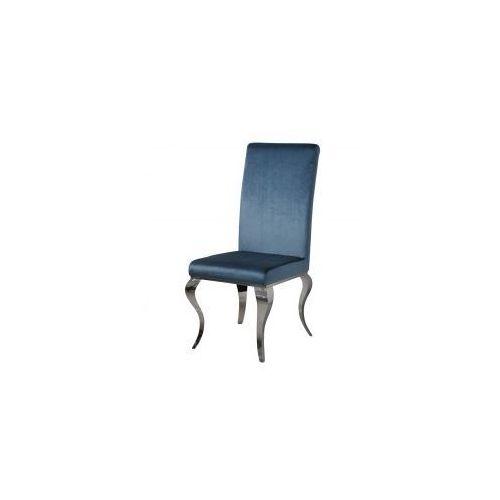 Krzesło glamour Premier Blue - nowoczesne krzesło tapicerowane, kolor niebieski