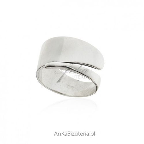 54cbc95b358f2f Info · ankabizuteria.pl Oryginalna srebrna biżuteria pierścionek srebrny -  szeroka obrączka