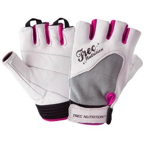 Skórzane rękawice treningowe dla kobiet  biało/szare marki Trec