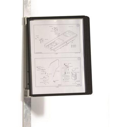 Kompletny zestaw uchwytów ściennych, magnetyczny, 5 tablic przezroczystych DIN A