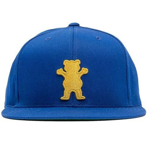czapka z daszkiem GRIZZLY - Og Bear Snapback Blue/Orange (BLOR) rozmiar: OS, kolor niebieski