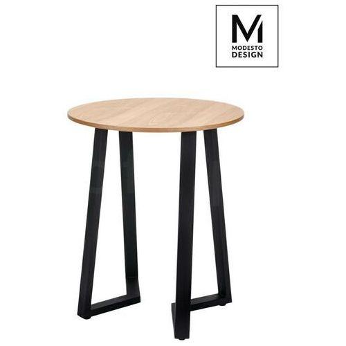 MODESTO stół TAVOLO FI 60 dąb - blat MDF, podstawa metalowa