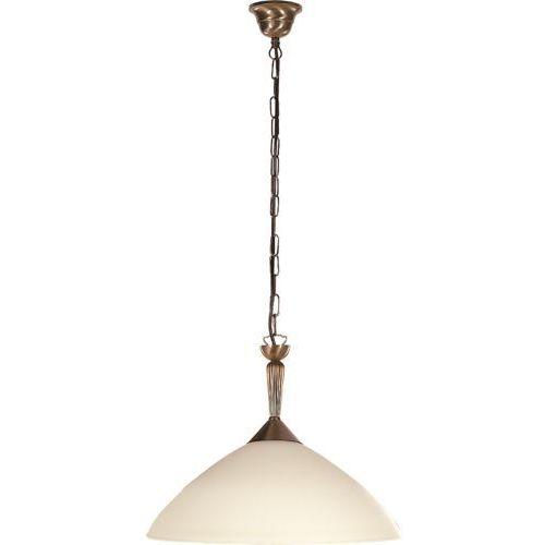 Lampa wisząca Rabalux Regina 1x60W E27 brąz/kremowy 8176