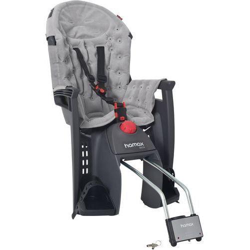 Hamax fotelik rowerowy siesta premium grey/light grey (7029775525153)