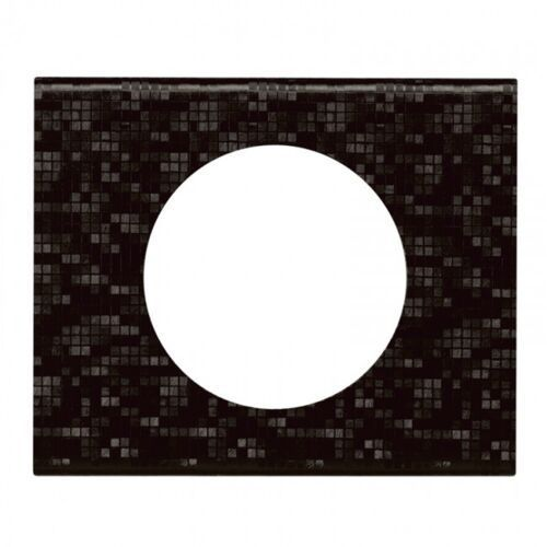Legrand Ramka pojedyncza celiane 069451 skóra czarny pixel (3414970451071)