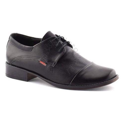 Buty komunijne dla chłopca 2073 - czarny marki Zarro