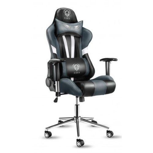 Fotel DIABLO X-Eye Czarno-biało-szary + Zamów z DOSTAWĄ JUTRO! + DARMOWY TRANSPORT! (5902560332438)