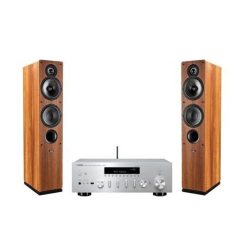 Zestaw stereo YAMAHA R-N402D SR + INDIANA LINE Tesi 561 Orzech DARMOWY TRANSPORT (2904868658183)