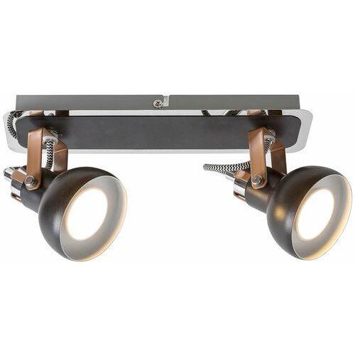 Rabalux Plafon lampa sufitowa balzac 5610 metalowa oprawa industrialne reflektorki regulowane czarne matowe szampańskie (5998250356105)