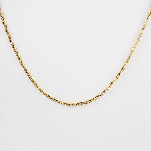 Złoty łańcuszek L940, kolor żółty