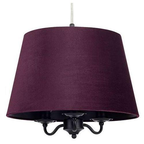 LAMPA wisząca JAMIE 107532 Markslojd abażurowa OPRAWA klasyczny zwis okrągły filetowa czarna, 107532