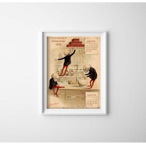 Vintageposteria.pl Plakaty w stylu retro plakaty w stylu retro antikamnia kalendarz jan feb francais