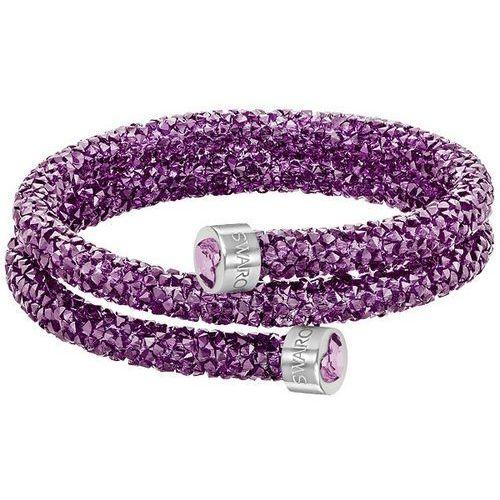 Swarovski  crystaldust heart double bangle, purple purple stainless steel, kategoria: bransoletki