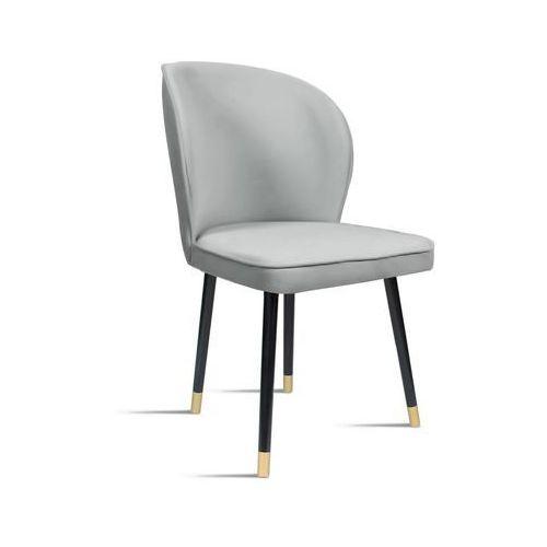 Krzesło RINO jasny szary/ noga czarny gold/ JA81, kolor szary