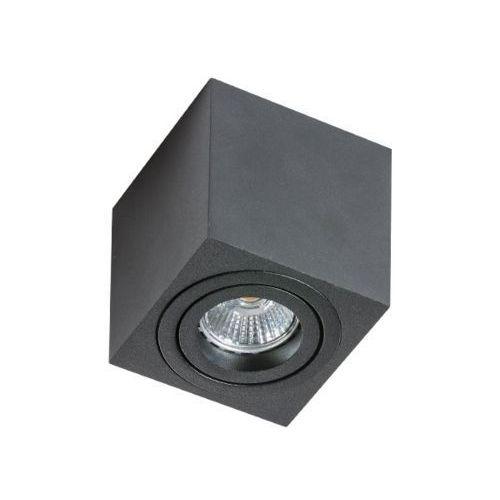 Spot LAMPA sufitowa MINI ELOY GM4006 BK Azzardo natynkowa OPRAWA metalowa DOWNLIGHT kwadratowy kostka czarna