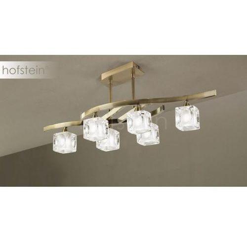cuadrax lampa sufitowa mosiądz, 6-punktowe - nowoczesny - obszar wewnętrzny - cuadrax - czas dostawy: od 10-14 dni roboczych marki Mantra