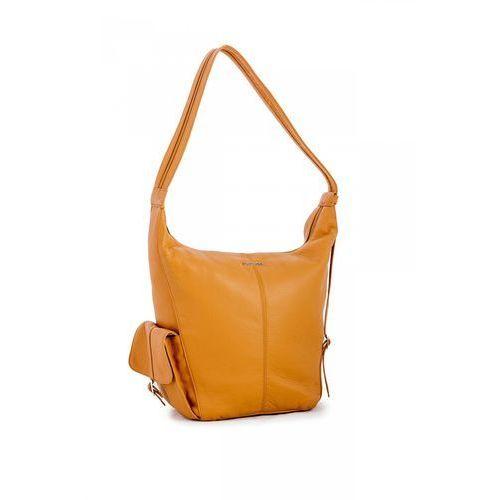 Oryginalna, pojemna torba w beżowym kolorze - marki Franco bellucci
