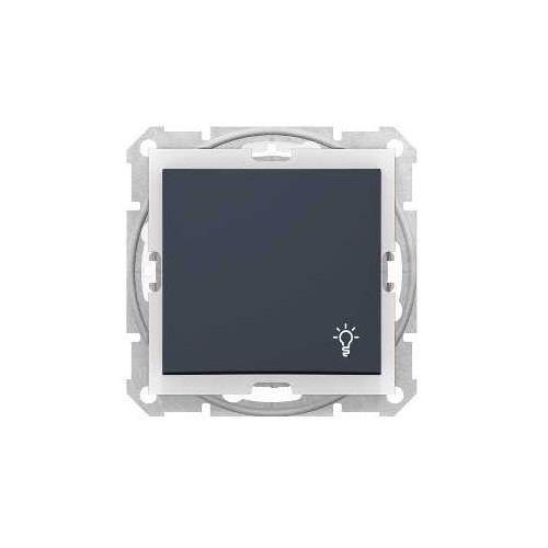 """Przycisk """"światło"""" schneider sedna sdn0900370 hermetyczny ip44 zwierny grafit marki Schneider electric"""