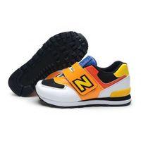 Buty dziecięce New Balance 574 Białe/pomarańczowe/żółte/czarne/czerwone, 13578