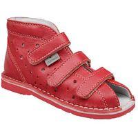 Kapcie profilaktyczne buty t105l t115l czerwony lico - czerwony marki Danielki