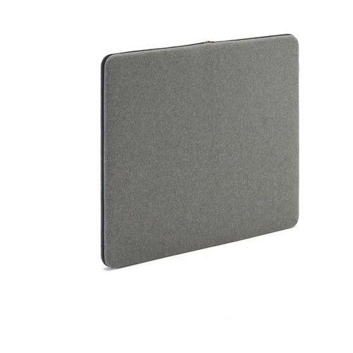 Ścienny panel dźwiękochłonny Zip, 800x650 mm, szary, czarny suwak