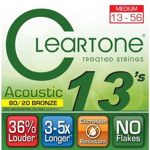 struny do gitary akustycznej 13-56 bronze marki Cleartone
