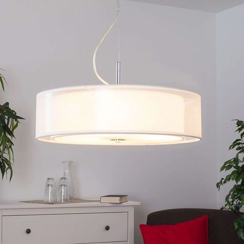 Klasyczna lampa wisząca biała 3-źródła światła - pikka marki Lindby