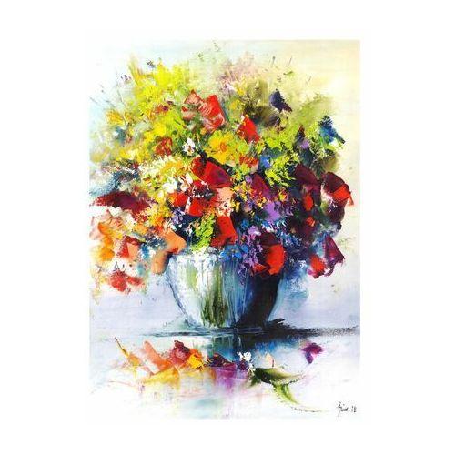 Art canvas Kanwa malowane kwiaty 50 x 70 cm (5901698549855)