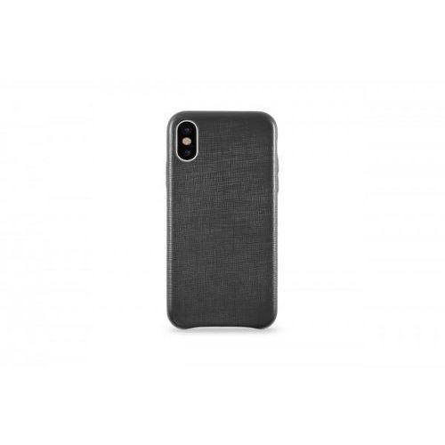 leather case do iphone x skórzane czarne marki Kmp