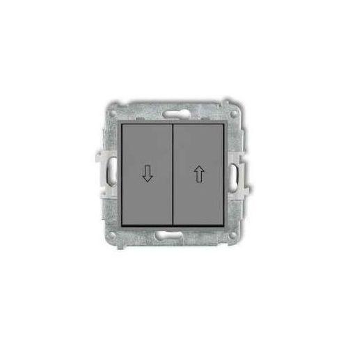 Karlik Przycisk żaluzjowy mini 27mwp-8 szary mat (5903268588257)