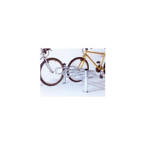 """Stojaki na rowery typu """"merkury"""" dwustronny - 3 stanowiska, powierzchnia ocynkowana ogniowo marki Procity"""
