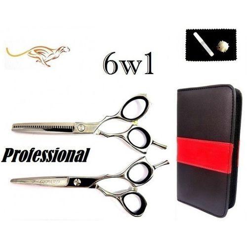 Degażówki 5,5 + nożyczki fryzjerskie  5,5 cobra twist s marki Gepard