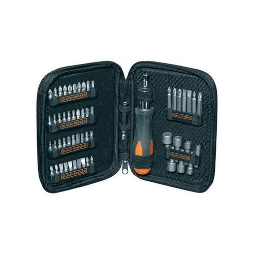 Zestaw nasadek i bitów black&decker a7104-xj (56 elementów) marki Black & decker