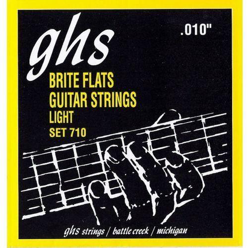 GHS Brite Flats struny do gitary elektrycznej, Light,.010-.046
