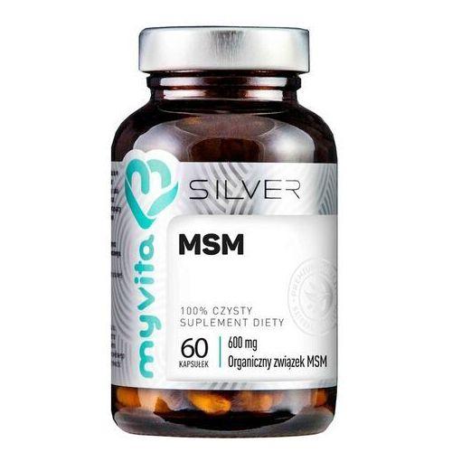 Kapsułki MSM Organiczny związek MSM 600mg 60 kapsułek MyVita Silver Pure
