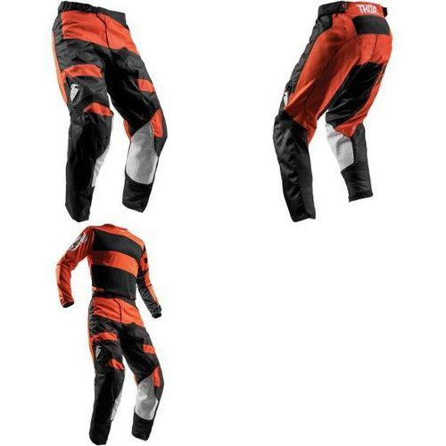 THOR SPODNIE YOUTH PULSE LEVEL RED ORANGE/BLACK =$