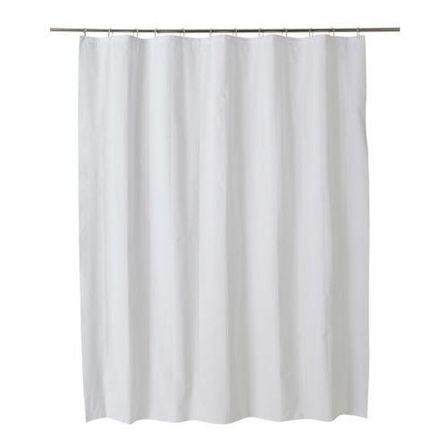 Zasłonka prysznicowa Palmi 180 x 200 cm biała, CURTAIN 1