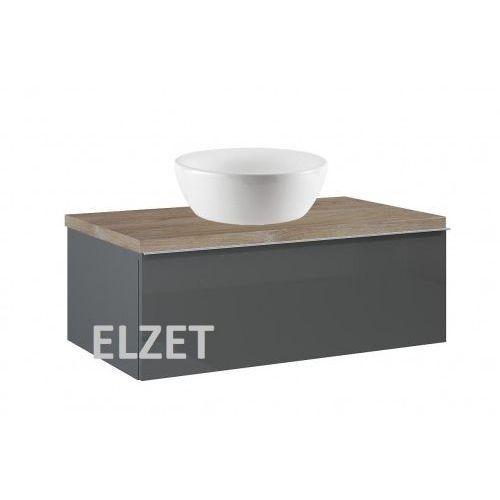 szafka look 1s anthracite pod umywalkę nablatową + blat 80 dąb classic 167080+166899 marki Elita