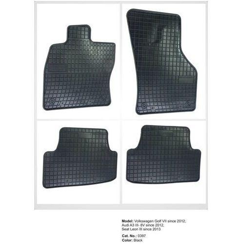 Dywaniki gumowe czarne z kompletem stoperów - Audi A3 (8V) od 2012, 5907377540960